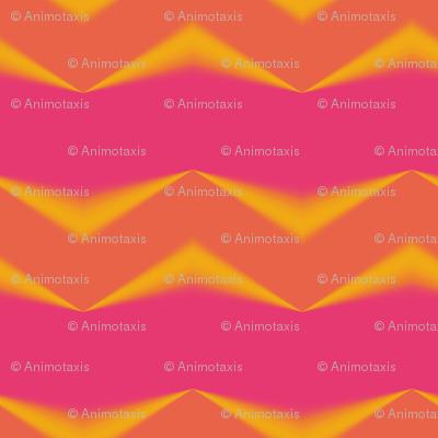 Golden Orange 3d Chevrons and Hot Pink Bands