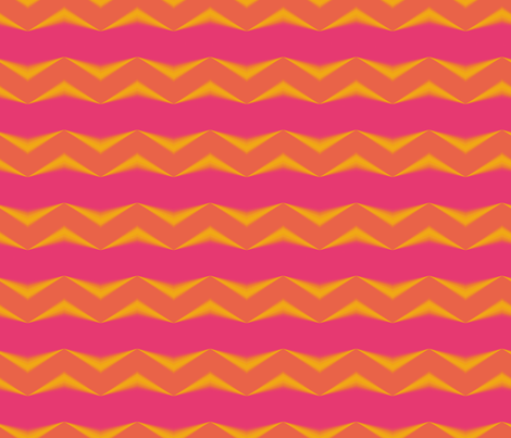 Golden Orange 3d Chevrons and Hot Pink Bands fabric by animotaxis on Spoonflower - custom fabric