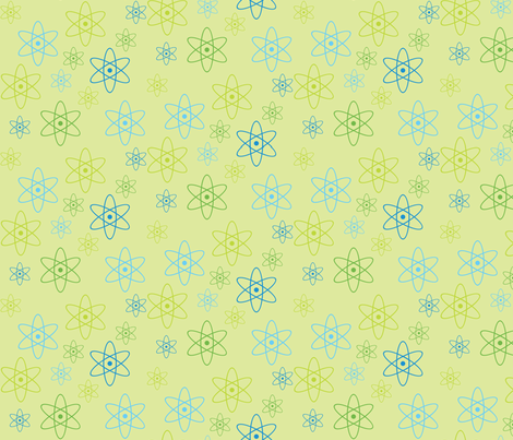 Atomic Science (Green) fabric by robyriker on Spoonflower - custom fabric