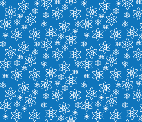 Atomic Orbits (Blue) fabric by robyriker on Spoonflower - custom fabric