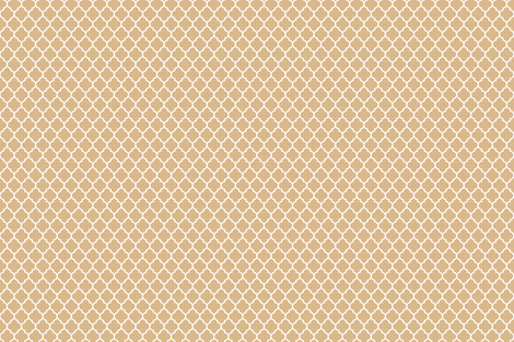 Moroccan trellis in oatmeal fabric by spacefem on Spoonflower - custom fabric
