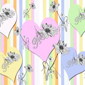 Confetti Stripes Love