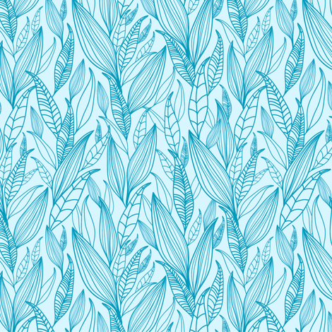 Misty Leaves fabric by oksancia on Spoonflower - custom fabric