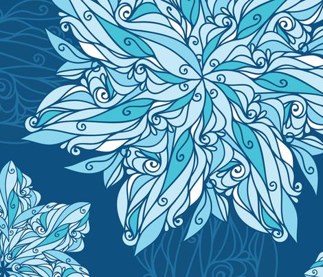 Doodle Swirl Star fabric by oksancia on Spoonflower - custom fabric