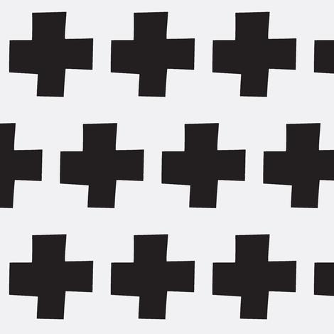 black cross  fabric by tagkari on Spoonflower - custom fabric