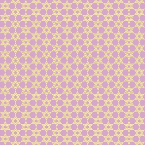 lilac with creme stars-ch