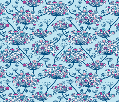 Flower Cower fabric by oksancia on Spoonflower - custom fabric