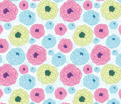 Flower Hill fabric by oksancia on Spoonflower - custom fabric