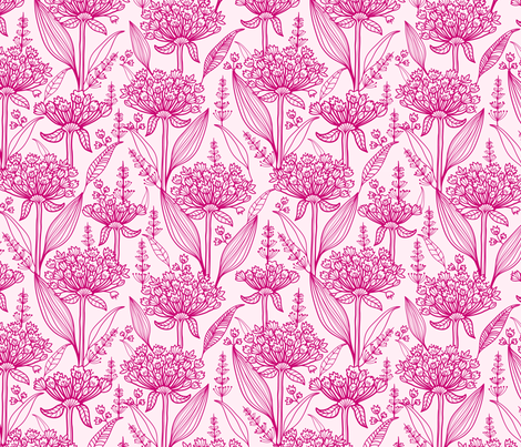 Lily Of The Nile fabric by oksancia on Spoonflower - custom fabric