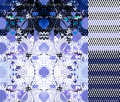 cheater quilt with blue butterfly