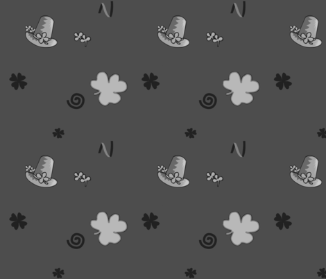 three-leaved shamrock fabric by isabella_asratyan on Spoonflower - custom fabric