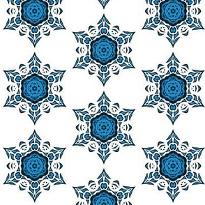 tribal snowflake (blue)