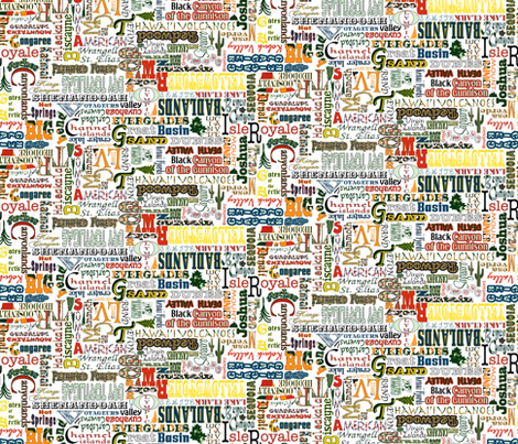 MORE U.S. NATIONAL PARKS fabric by mag-o on Spoonflower - custom fabric