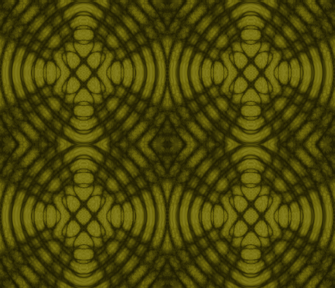 Yellow Celtic Satined Glass fabric by onestitchdesigns on Spoonflower - custom fabric