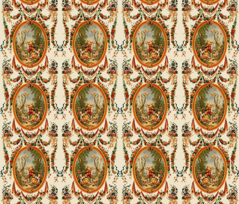 Rococo Swingers ~ Delightful fabric by peacoquettedesigns on Spoonflower - custom fabric