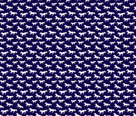 Pony Stampede in Ink fabric by thistleandfox on Spoonflower - custom fabric