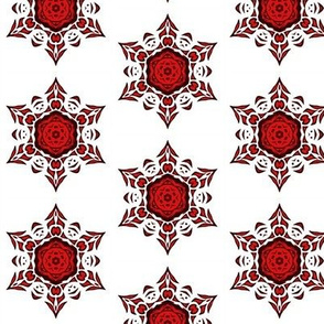 tribal snowflake (red)