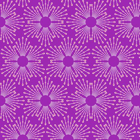 Starburst beaded flowers - spring tulip purple fabric by coggon_(roz_robinson) on Spoonflower - custom fabric