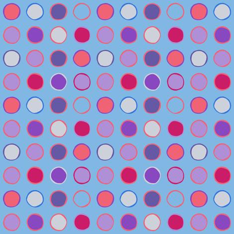 polka spots - spring tulip blue fabric by coggon_(roz_robinson) on Spoonflower - custom fabric