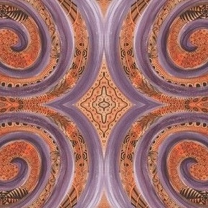Purple Orange Swirl