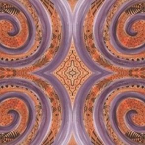 Purple Orange Swirl
