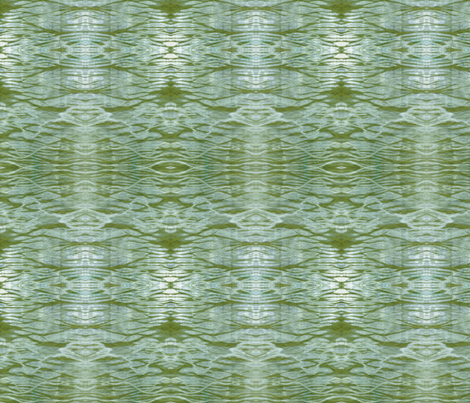 Green Ripples fabric by janied on Spoonflower - custom fabric