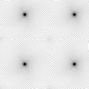 Hypnotic Spiral in Square Design No 2