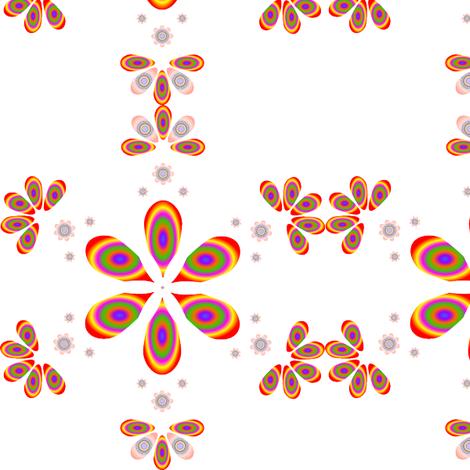 Rainbow Petal Design fabric by carolyn_cameron on Spoonflower - custom fabric