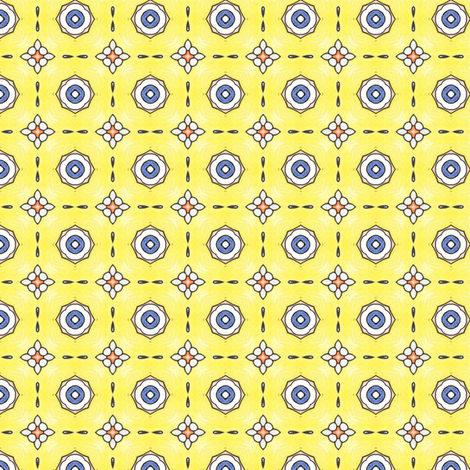 Sinicha's Sunshine Eyes fabric by siya on Spoonflower - custom fabric