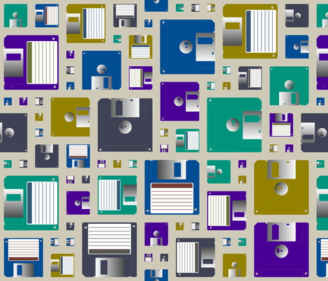 Floppy Disks fabric by spacefem on Spoonflower - custom fabric