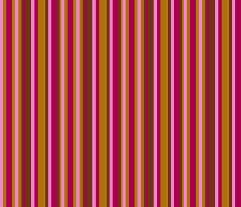 Pink and Burgundy Stripe fabric by uzumakijo on Spoonflower - custom fabric