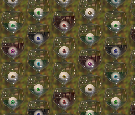 Look, the glass is half full! fabric by bonnie_phantasm on Spoonflower - custom fabric