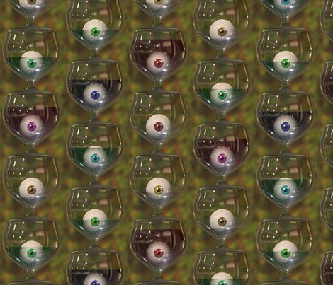 Look, the glass is half full! fabric by bonnie_phantasm on Spoonflower - custom fabric