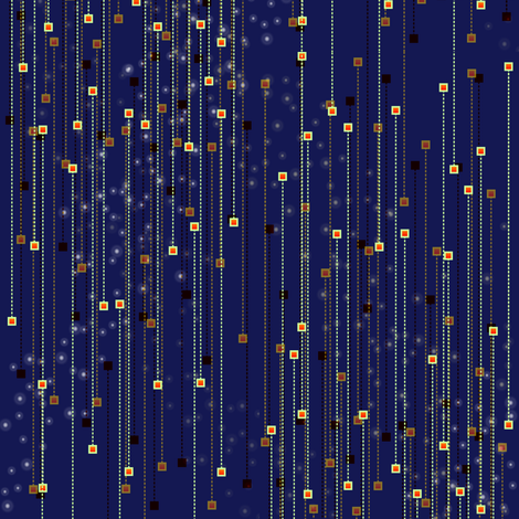 space chart fabric by glimmericks on Spoonflower - custom fabric