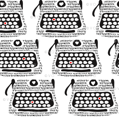 Clickity Clack (I heart in red the typewritten word)