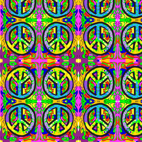 Give Peace A Chance fabric by andybee on Spoonflower - custom fabric