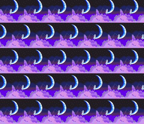 moon fishing fabric by andybee on Spoonflower - custom fabric