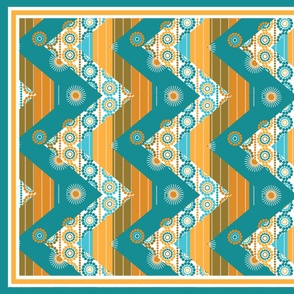 Flare Zigzag cheater quilt