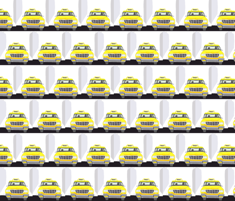 Big Yellow Taxi fabric by andybee on Spoonflower - custom fabric