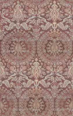 Catherine of Aragon Damask ~ Mauve