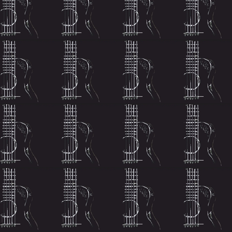 Accoustic Guitar fabric by andybee on Spoonflower - custom fabric