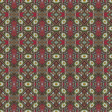 Spartan Tartan Daisy Chain fabric by edsel2084 on Spoonflower - custom fabric