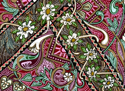 Dorothy's Garden (a homespun zig zag off kilter patch pattern )