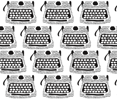 Clickity Clack (I heart typewritten words) fabric by vo_aka_virginiao on Spoonflower - custom fabric