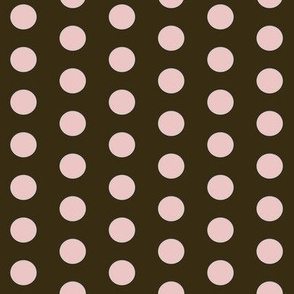 Polkadot in Brown (Pink Dots)