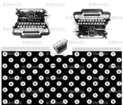 typewriter frame-purse
