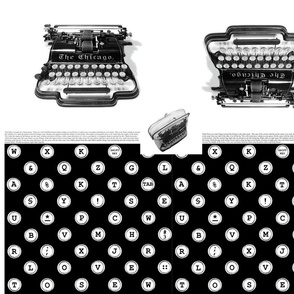 typewriter frame-purse