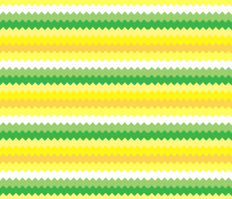 Happy Yellow Chevrons fabric by aftermyart on Spoonflower - custom fabric