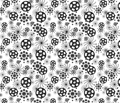 Typewriter Parts Scattered - Small Print fabric by ninniku on Spoonflower - custom fabric