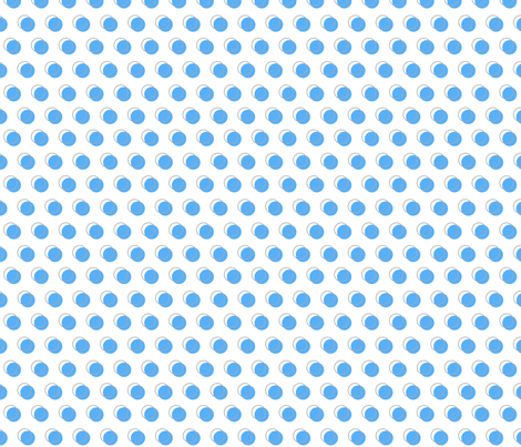 blue dots 5 fabric by mojiarts on Spoonflower - custom fabric